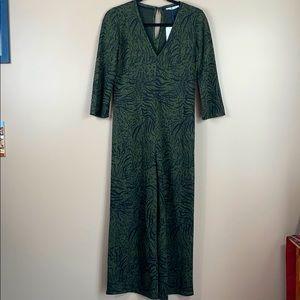 NWT Zara olive green jumpsuit sz sm